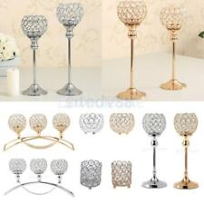 Crystal Candle Holders Wedding Banquet Candlesticks Table Decorative Centerpiece