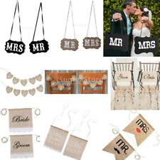 Romantic Rustic Chair Banner Chair Sign Garland Wedding Party Decoration