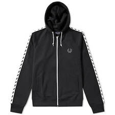Fred Perry Tape Track Hooded Top - Black - Sizes S, XXL - RRP £85