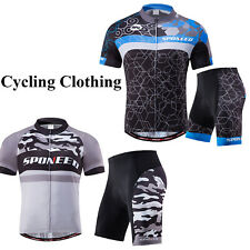 Camouflage Cycling Jersey Sets Mens 4D Gel Padded Bicycle Shorts Bike Clothing