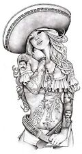 Love Charra by Mouse Lopez Sexy Tattooed Chicano Woman Tattoo Canvas Art Print