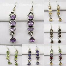 925 Sterling Pure Silver LONG Earrings ! Antique Style Engagement Jewelry NEW