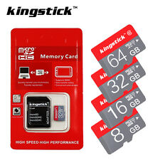 Micro SD Card Mini TF Memory Card Class10 SDHC/SDXC 16GB 32GB 64GB New Kingstick