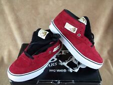 NEW VANS HALF CAB PRO STEVE CAB 20TH ANNIVERSARY SHOE RED SUEDE MEN'S 6.5