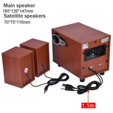 Wooden Wireless Bluetooth Speaker Portable subwoofer for Phone Android TF/USB ES