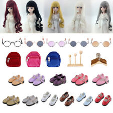 MagiDeal 1/6 BJD Doll Shoes Wig 1/3 Glasses for Modern LUTS DOD SD Complete Look