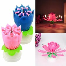 Musical Lotus Flower Double-deck Blossom Birthday Candle Party Decoration