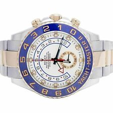 Rolex YachtMaster II 44mm Two-Tone 18k Rose Gold Box Papers Ceramic 116681 Watch