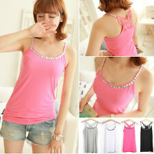 Sleeveless Butterfly Sexy Beaded Tank Top Knit Shirt Vest Blouse T-Shirts