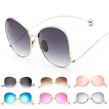 Women's Retro Designer Mirror Metal  Sunglasses Vintage Eye Glasses Eyewear