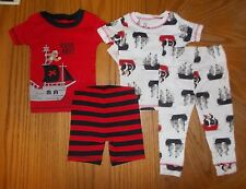 Boys Size 12 Months, 18 Months OR 2T Carters 4-Piece Snug Fitting Pajama Set NWT