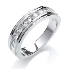 18ct White Gold 0.50ct Brilliant Cut H-Si Diamond Half Channel Set Eternity Ring