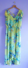 Emma & Michele Maxi Dress M L XL NWT Sheer Romantic Floral Watercolor Print