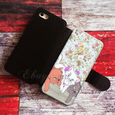 Cat flower Wallet iPhone cases Cat flower Samsung Wallet Leather Phone Cases