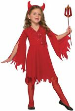 Delightful Devil Satan Demon GIRLS Child Costume NEW Red Dress