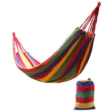 120KG Double Cotton Fabric Hammock Air Chair Hanging Swinging Camping AU Ship