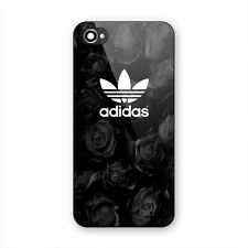 Best New Adidas Logo Black Roses Print Hard Plastic Cover iPhone 5s 6 6s 7 Plus