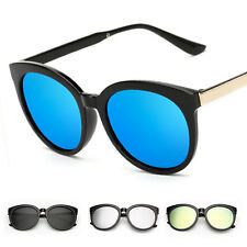 Women's Mirror Designer UV400 Sunglasses Vintage Metal Eye Glasses Eyewear