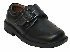 Ball Band boys black slip on buckle strap casual dress shoes. Toddler size
