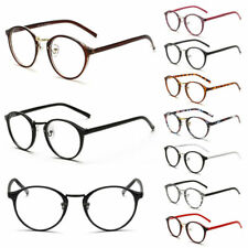 Geek Nerd Retro Costume Round Large Metal Frame Clear Lens Eyewear Glasses Party