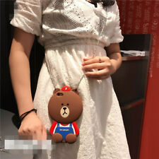 Kawaii 3D Brown Bear Crossbody Style Case with Chain For iPhone6/6s/6P/6sP/7/7P