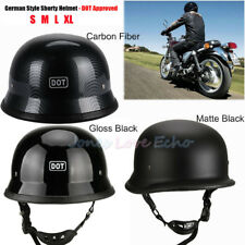 New German Style Shorty Helmet - DOT Approved - Adult Motorcycle Half Helmet USA