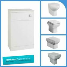 Bathroom Back to Wall Unit BTW WC Toilet Pan, Cistern & Seat Variety of Sizes