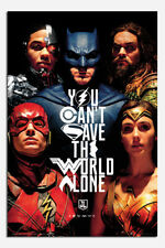Justice League Faces Poster New - Maxi Size 36 x 24 Inch