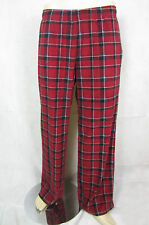 Mens Red Check fleece Pj Pyjama bottoms pants Night Trousers Large L NEW