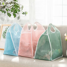Home Mesh Storage Basket Dirty Clothes Organizer Foldable Laundry Bags Portable