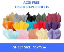 """75 Sheets of Acid Free 50cm x 75cm Tissue Paper - 18gsm Wrapping Paper 20"""" x 30"""""""