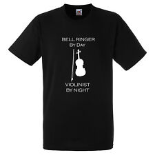BELL RINGER BY DAY VIOLINIST BY NIGHT XMAS GIFT FUNNY