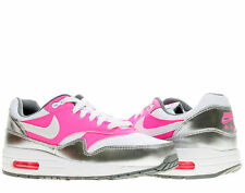 Nike Air Max 1 (GS) White/Pink Pow Girls' Running Shoes 653653-108