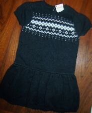 Knit Dress Gray Gymboree Cotton Knit School Toddler Girl size 4T New