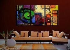 Modern Wall Decor Art Abstract Huge Oil Painting on Canvas 3pc (no Framed)