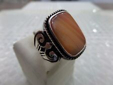 Turkish Handmade 925 Sterling Silver Jewelry Botswana Agate  Men's Ring All Size