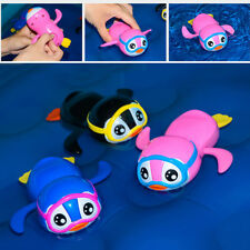 Cute Penguin Wind Up Swimming Bath Toy Toys for Newborn Baby Toddler Kids Finest