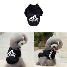 Pet Dog Hoodie Sweater Warm Clothes Winter Outfit Sport Hooded Jumper Jumpsuit