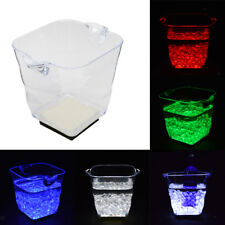 Light Up LED Ice Bucket Cool Champagne Bucket Drinks Cooler Chill 5L 5 Types