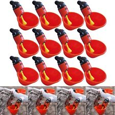 100Pcs Automatic Poultry Water Drinking Cups Chicken Hen Birds Plastic Drinkers
