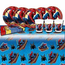 Spderman Homecoming Party Set includes table cover, plates, cups, napkins