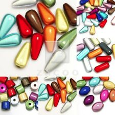 Mixed Acrylic Miracle Beads Spacer 3D Illusion Cylinder/Teardrop/Oval/Capsule IW
