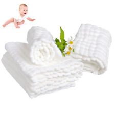 Cloth Gauze Cotton Baby Inserts Nappy Liners White Changing Pad Diaper 10 Layers