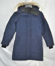 NEW CANADA GOOSE SHELBURNE PARKA ADMIRAL WOMENS 3802L DOWN COYOTE RUFF AUTHENTIC