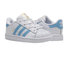 Adidas Original BW1279 : White Light Blue Superstar Toddler Sneaker 4C-10C