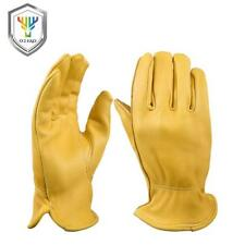 OZERO Men's Work Gloves Deerskin Leather Security Protection Men Gloves