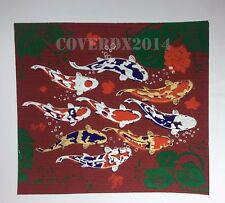 VTG Koi fish Oriental Painting on Silk Made in Thailand