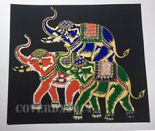 VTG Elephant-1 Oriental Painting on Silk Made in Thailand