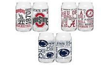 College Football NCAA 16 Oz. Pilsner Sport Can Beer Glass Set of 2 NEW