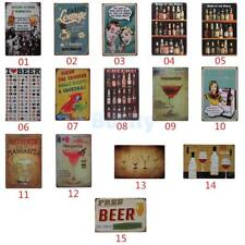 Vintage Tin Sign Bar Pub Home Club Wall Decor Retro Metal Art Poster Artwork